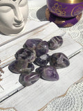 Chevron Amethyst Tumbles Medium | Crystal Karma by Trina