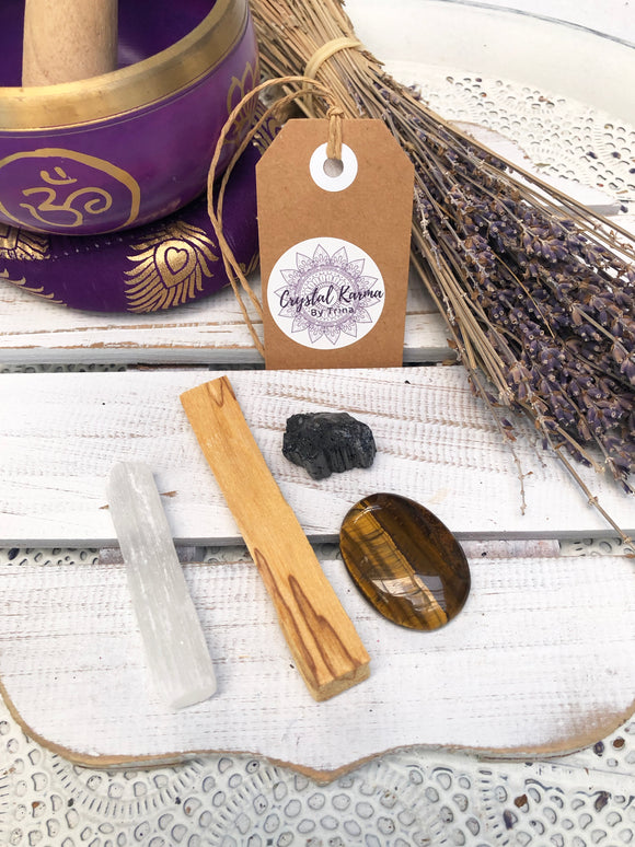 Cleansing Bundle Protection & Courage | Crystal Karma by Trina