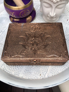 Om Copper Plated Box | Crystal Karma By Trina