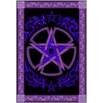 Altar Cloth Large Tapestry - Pentacle | Crystal Karma by Trina