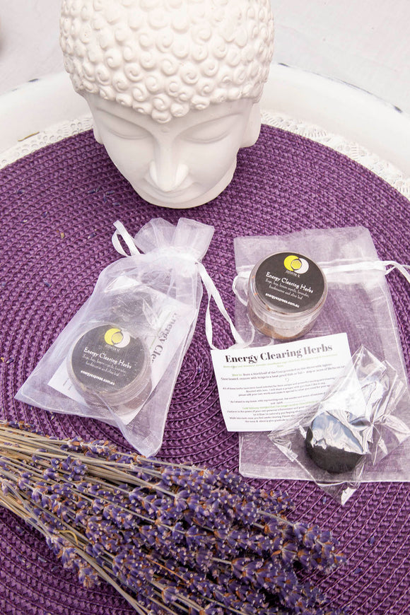 Energy Clearing Herbs & Charcoal Set | Crystal Karma by Trina