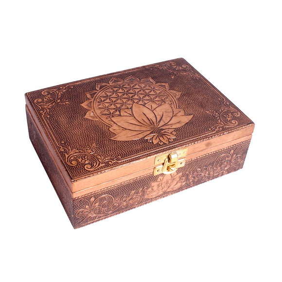 Flower Of Life Copper Plated Box | Crystal Karma By Trina