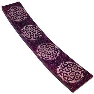 Flower of Life Soapstone Incense Holder