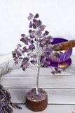Gemstone Tree Amethyst Silver Small | Crystal Karma by Trina