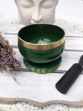 Heart Chakra Singing Bowl - Green 7.5cm Gift Set | Crystal Karma by Trina