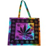 Tote Bag Tie Dye Hemp Leaf | Crystal Karma by Trina