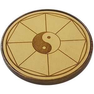 Wooden Crystal Grid - Home Blessing Yin Yang | Crystal Karma by Trina