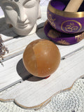 Honey Calcite Sphere #1  | Crystal Karma by Trina