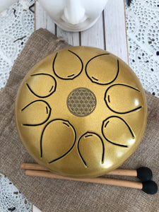 Gold Tongue Drum - Sound Cleansing