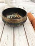 Tibetan Copper Hammered Singing Bowl - Crystal Karma by Trina