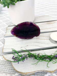 Agate Slice - Purple #3 - Crystal Karma By Trina