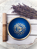 Throat Chakra Brass Singing Bowl - Light Blue |  Crystal Karma by Trina