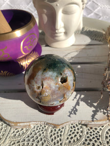 Ocean Jasper Sphere Medium #11 | Crystal Karma by Trina