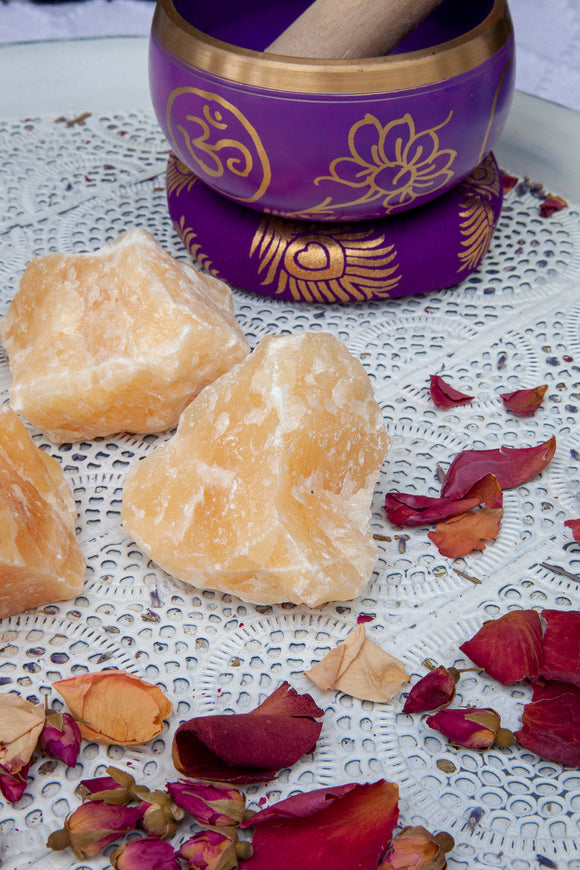 Orange Calcite Roughs Large | Crystal Karma by Trina