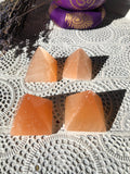 Orange Selenite Pyramids | Crystal Karma by Trina