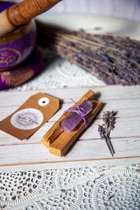 Cleansing Bundle Palo Santo and Amethyst Generator | Crystal Karma by Trina