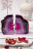 Agate Bookends Pink & White Set of 2 | Crystal Karma by Trina