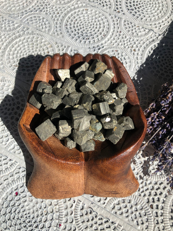 Pyrite Rough Cubes - 50g Bags | Crystal Karma by Trina