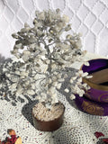 Rainbow Moonstone Crystal Gemstone Tree Silver Medium | Crystal Karma by Trina