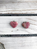 Rhodonite Pendant - Heart Carved Crystal Pendant - Light Pink  | Crystal Karma by Trina