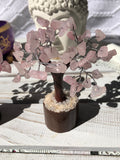 Rose Quartz Crystal Gemstone Fairy Tree | Crystal Karma by Trina