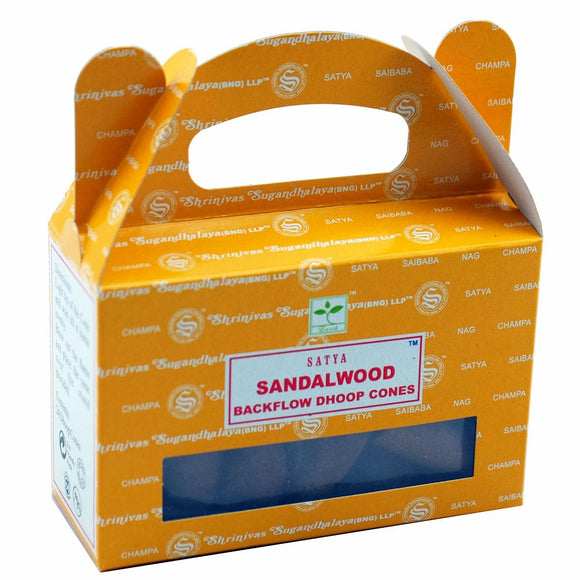 Backflow Incense Cones - Sandalwood