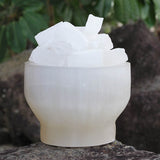 Selenite Fire Bowl Lamp – Large | Crystal Karma by Trina