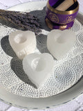 Selenite Candle Holder - Heart Shaped - Crystal Karma By Trina