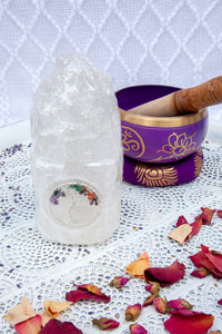 Selenite Tower Lamp Tree of Life 15+cm | Crystal Karma by Trina