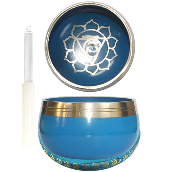 Singing Bowl Throat Chakra Light Blue | Crystal Karma by Trina