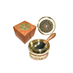 Singing Bowl Five Buddha- 12cm Gift Set | Crystal Karma By Trina