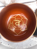 Sacral Chakra Singing Bowl - Orange 12.5cm Gift Set | Crystal Karma By Trina