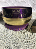 Crown Chakra Brass Singing Bowl - Purple 12.5cm Gift Set | Crystal Karma by Trina