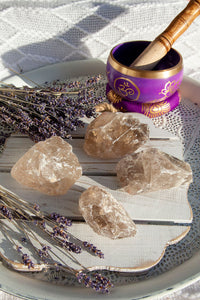 Smokey Quartz Roughs | Crystal Karma by Trina