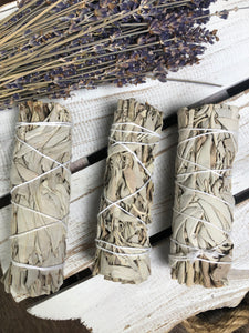 White Sage Smudge Stick - Loose | Crystal Karma by Trina