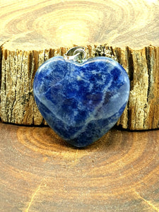 Sodalite Pendant - Heart Carved Crystal Pendant | Crystal Karma by Trina