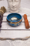 Tibetan Brass Singing Bowl - Blue | Crystal Karma by Trina