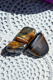 Tiger Eye Blue Falcon Tumblestone | Crystal Karma by Trina