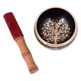Tree Of Life Brass Singing Bowl Black - 10.5cm | Crystal Karma by Trina