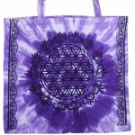 Tote Bag Purple Flower of Life | Crystal Karma by Trina