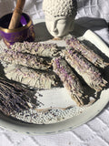 White Sage & French Lavender Smudge Sticks - Medium  | Crystal Karma by Trina