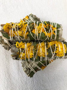 Sunflower Sage Smudge Stick | Crystal Karma by Trina
