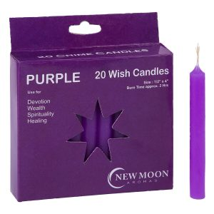 Wish Candles Purple | Crystal Karma by Trina