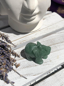 Green Jade Elephant Carving