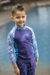 Big Kid Top - Big Surf Print - UPF 50 4-way stretch fabric for Toddlers - Stonz