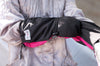 Pink and Black Youth Mitts - Extra wide overarm design covers outerwear for Toddlers- Stonz