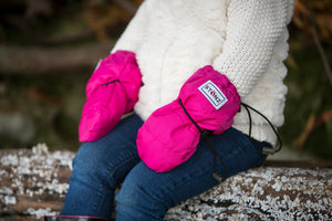 Baby Mitts - Fuchsia - With Clips