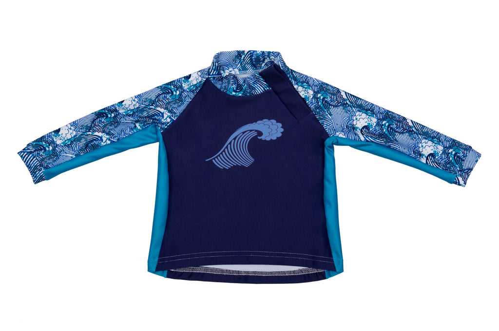 Little Kid Top - Big Surf Print - UPF 50 Sunwear Collection for Babies - Stonz