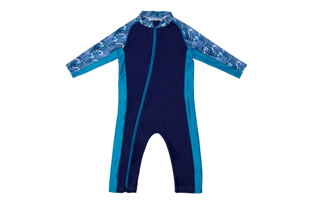 Sun Suit - Big Surf Print - UPF 50 Sunwear Collection for Babies - Stonz