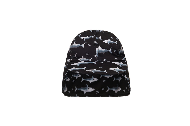 Flap Cap - Black/Shark